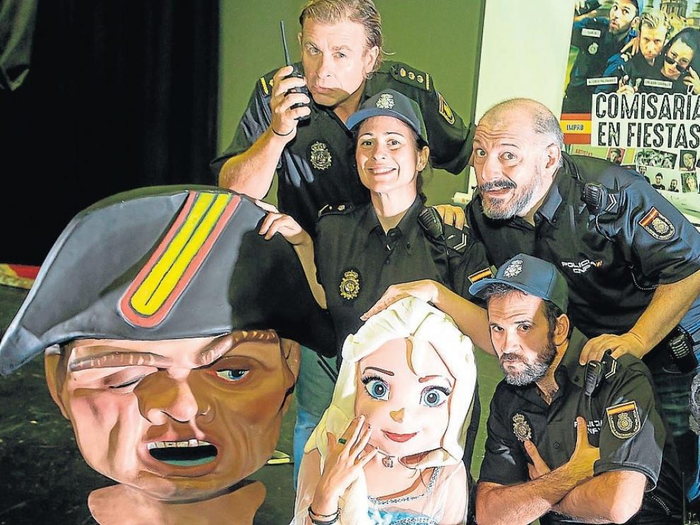 Teatro Indigesto vuelve con 'Comisaría en fiestas'. Alfonso Palomares, a la izquierda, será sustitudo por Rafa Blanca