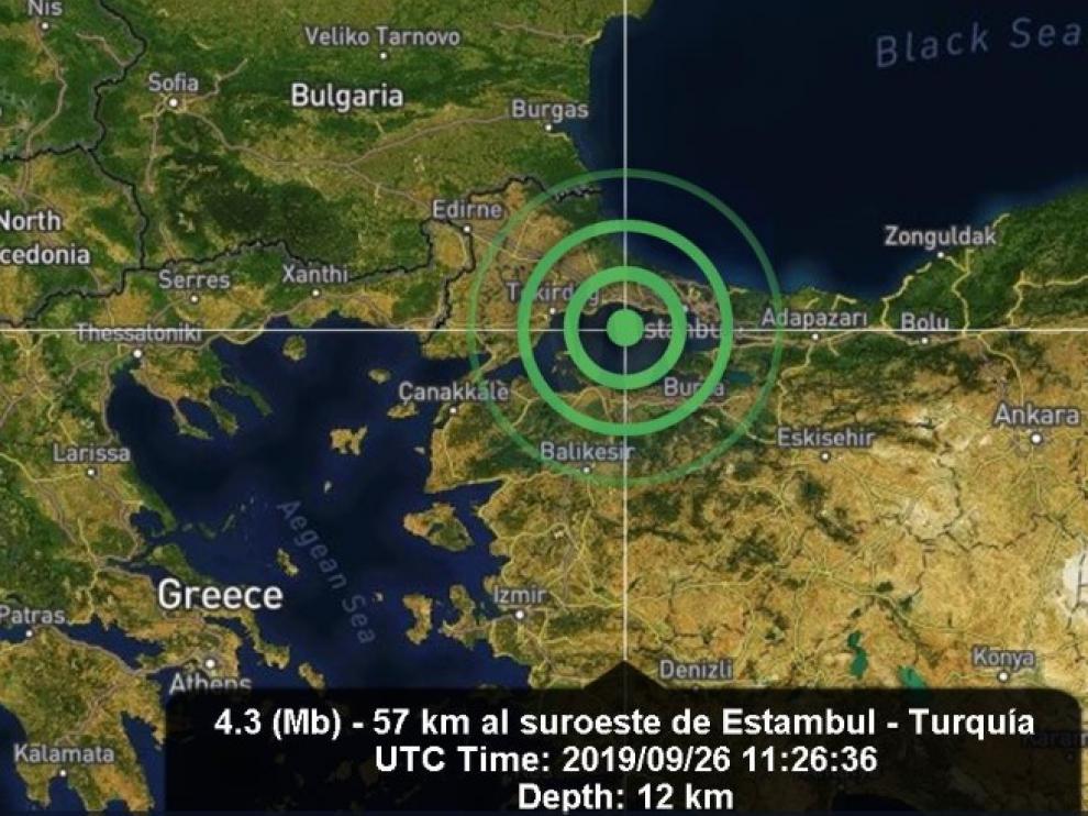 Un terremoto causa pánico en Estambul