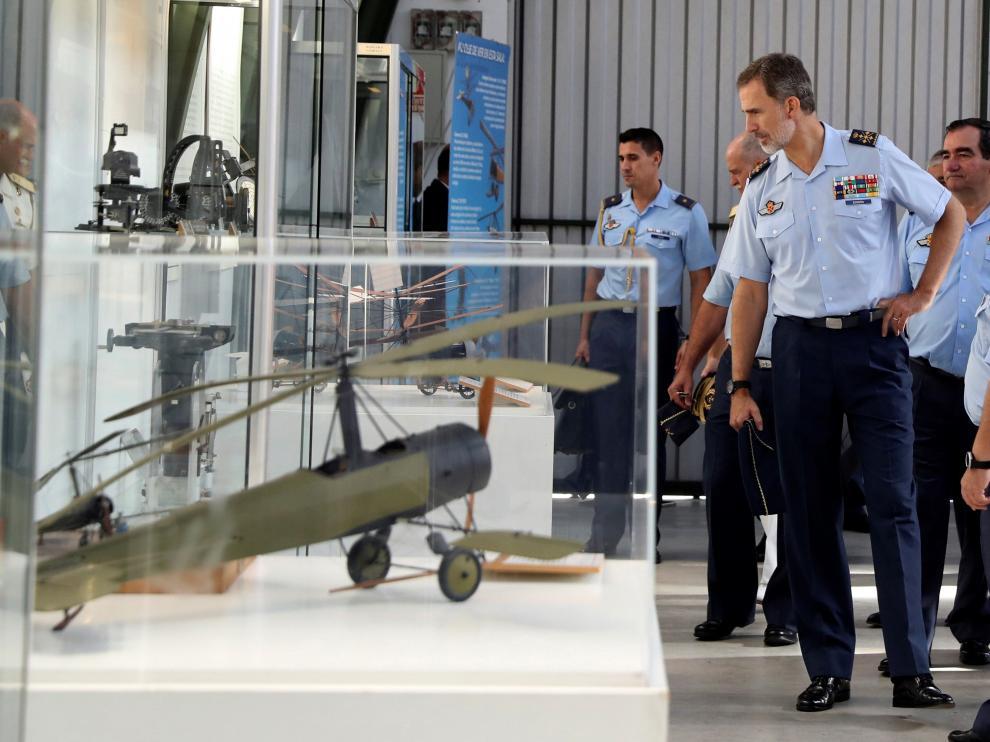 El Rey visita el Museo del Ejército del Aire.
