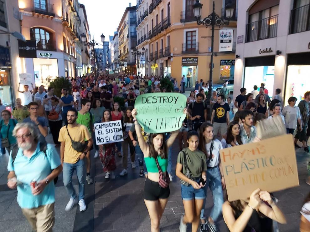 Manifestación en Zaragoza por el cambio climático