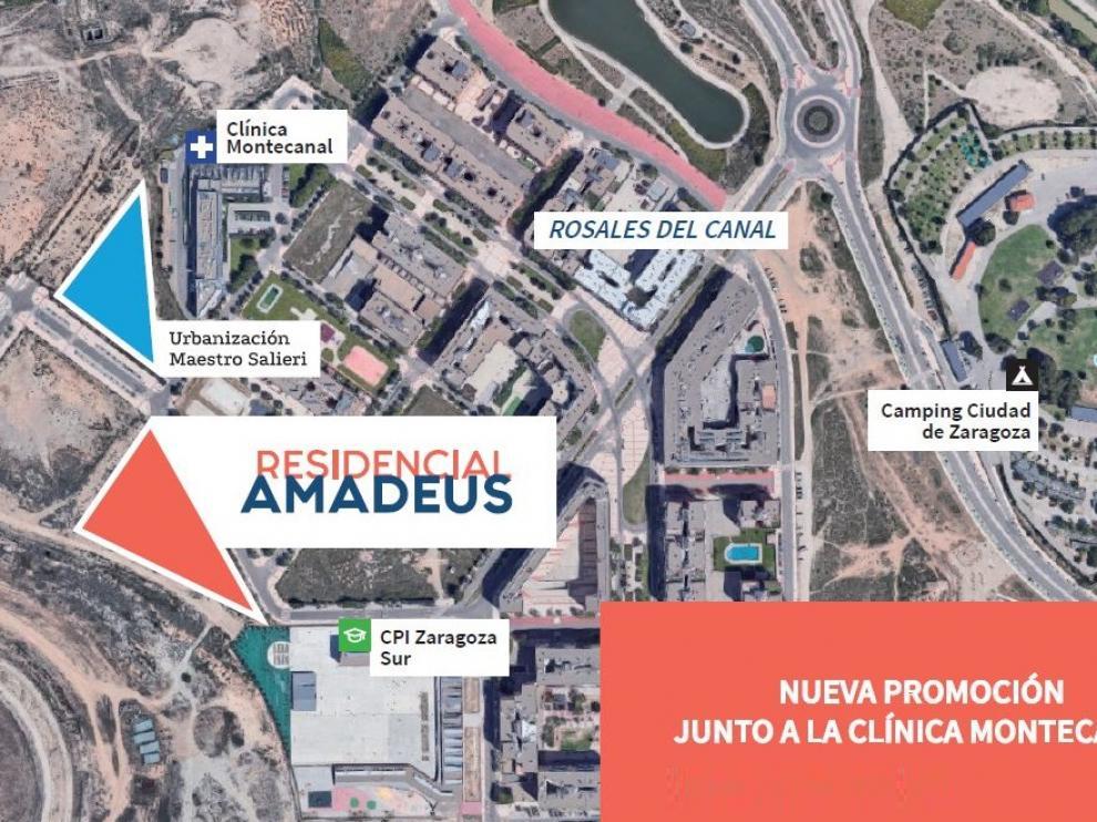 Ubicación Residencial Amadeus.