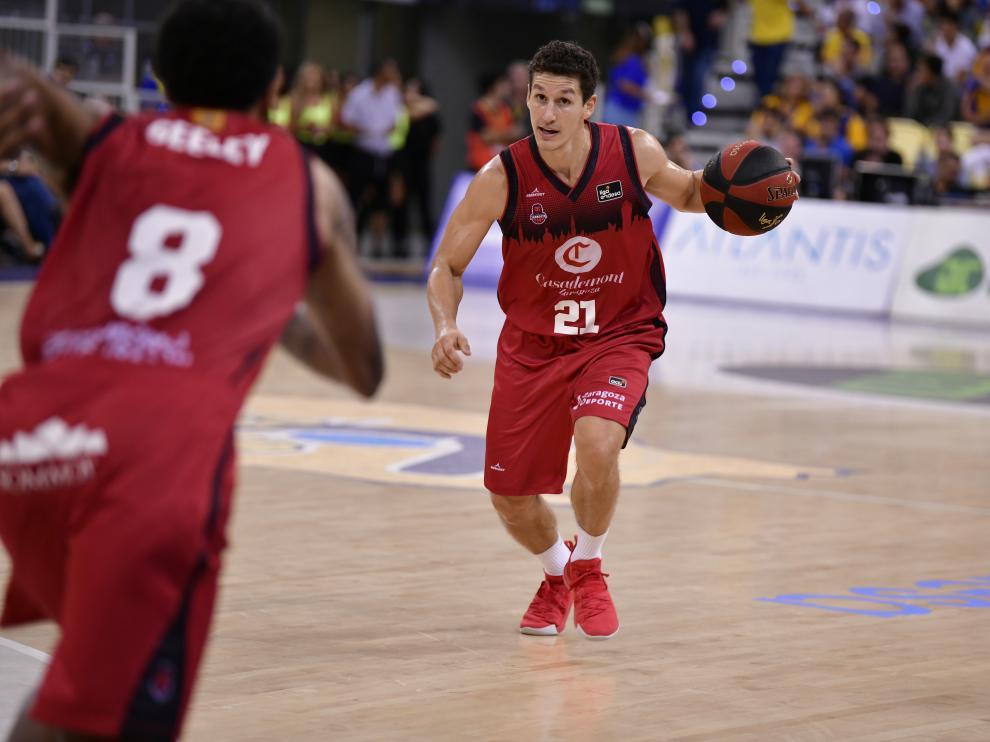 Rodrigo San Miguel, en el partido del jueves contra el Gran Canaria.