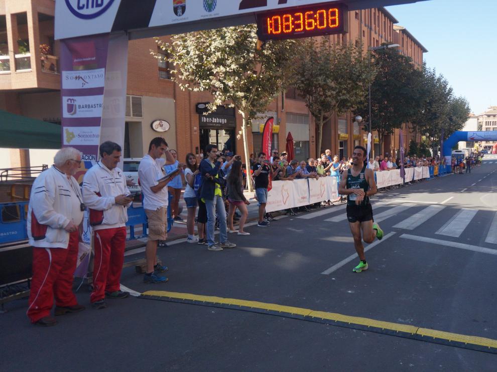 Alberto Puyuelo entrando en meta