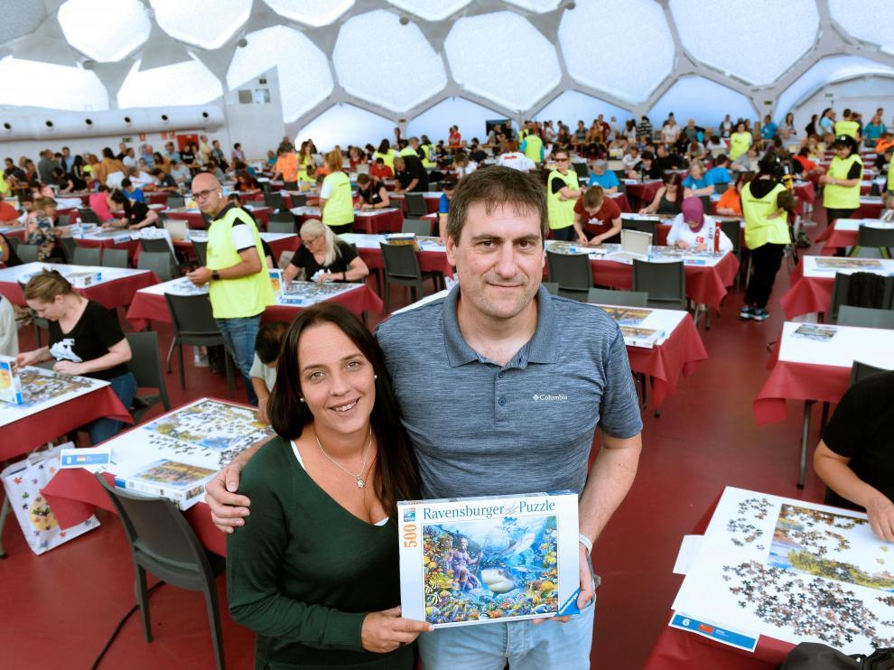 La gaditana Demelza Becerra, de Algeciras, y el soriano Ángel Heras, campeones del mundo de Puzzles por parejas