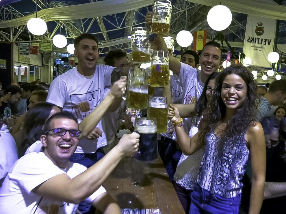 Fiestas del Pilar, Oktoberfest, parque atracciones, Zaragoza