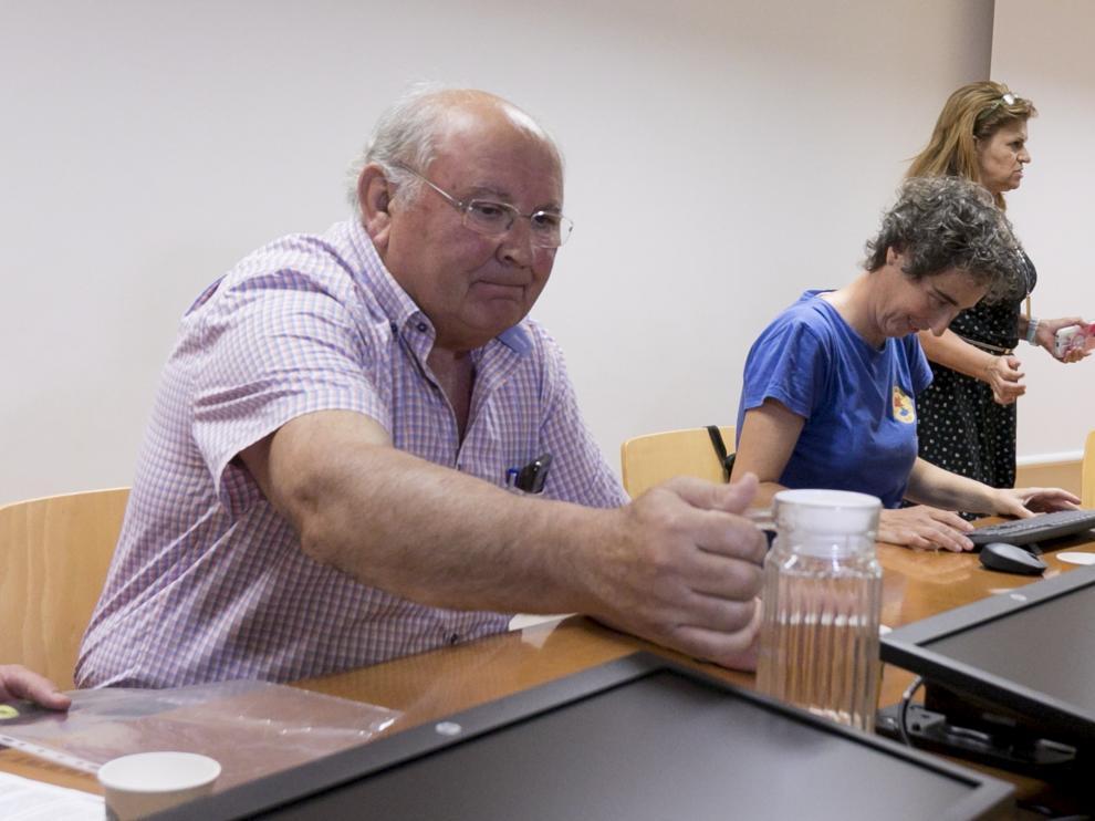 César Trillo y Lola Giménez coincidieron en la mesa redonda organizada por la Politécnica.
