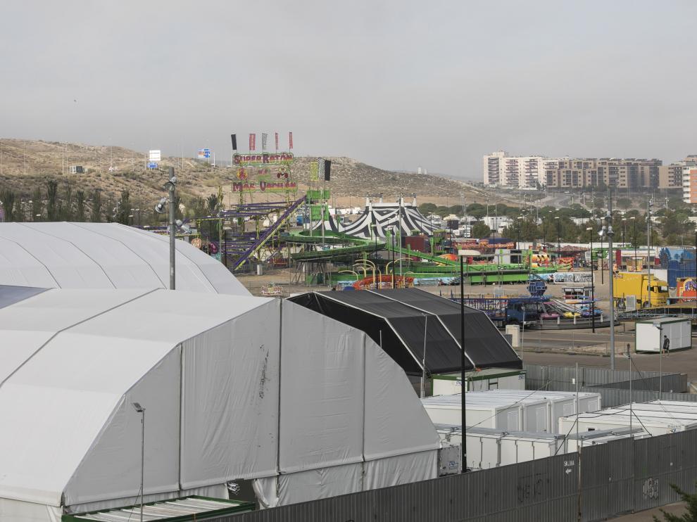 El recinto ferial de Valdespartera ya está prácticamente montado.