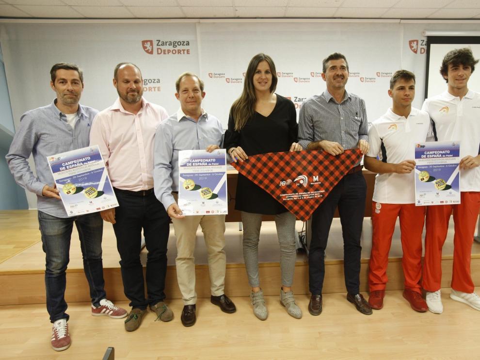 Presentación del Campeonato de España absoluto de pádel selecciones autonómicas en Zaragoza