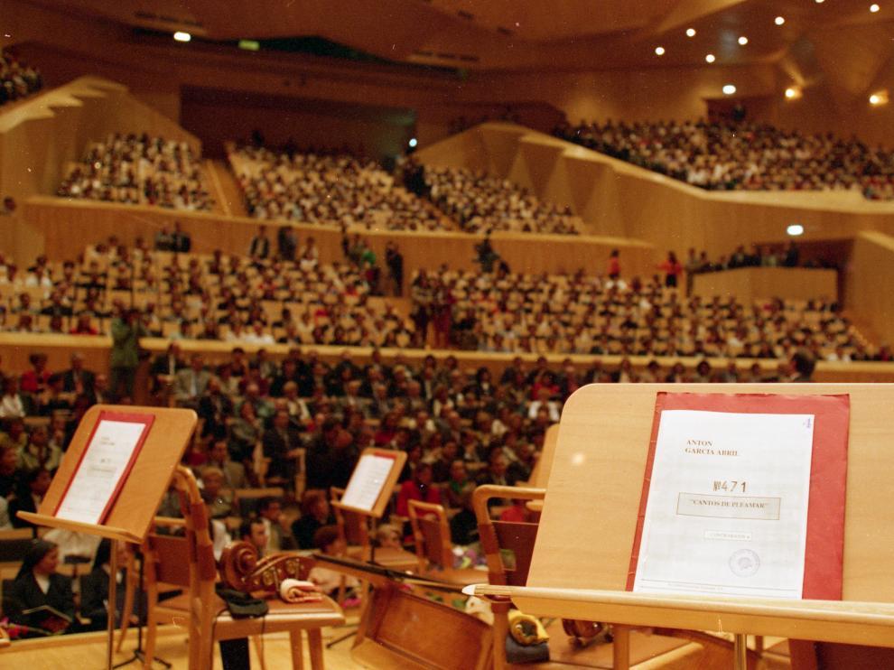 La sala Mozart, momentos antes del concierto inaugural del Auditorio en 1994