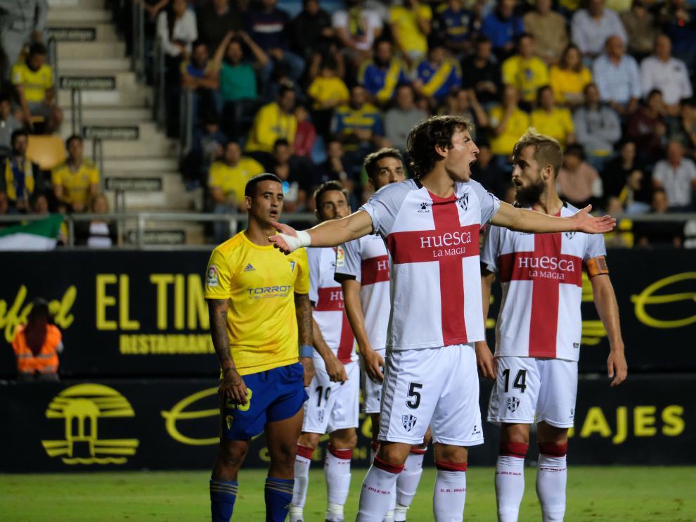 Pedro Mosquera, durante el partido contra el Cádiz.