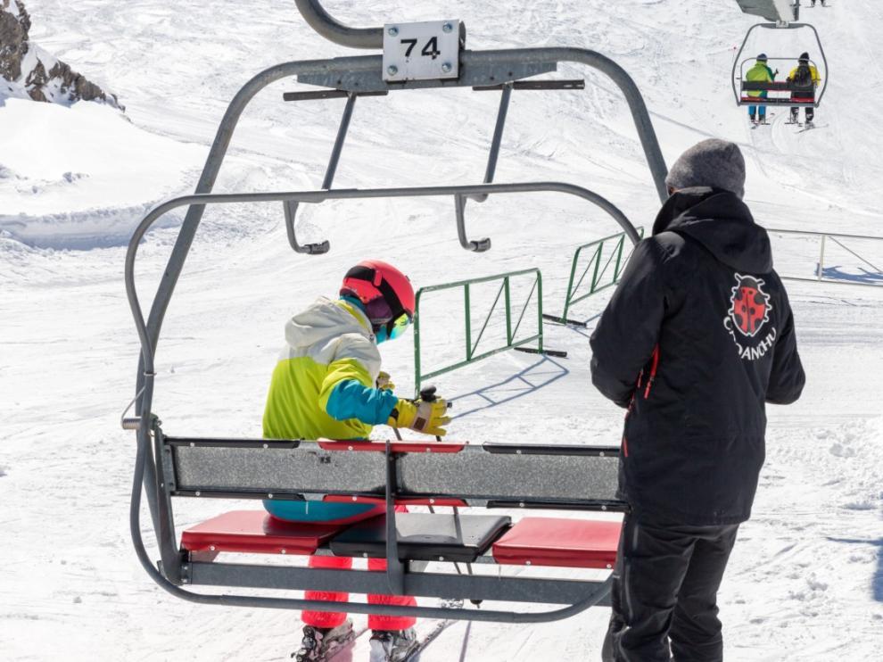 Imagen de las pistas de esquí de Candanchú.