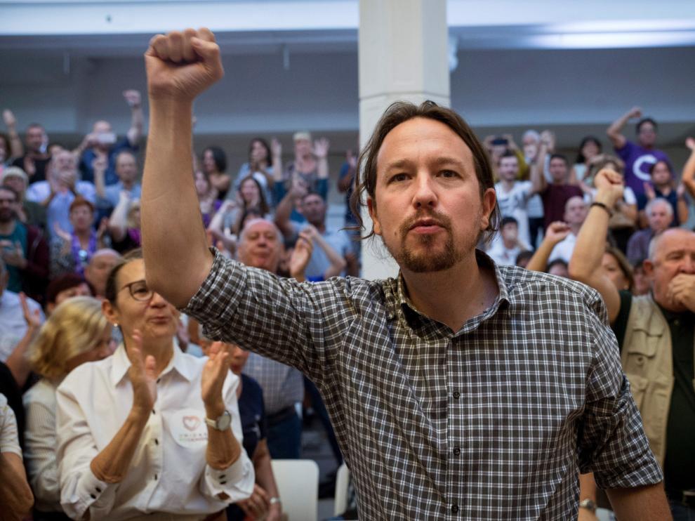 """Iglesias dice que Unidas Podemos es la """"única garantía"""" para no tener una coalición entre PP y PSOE"""