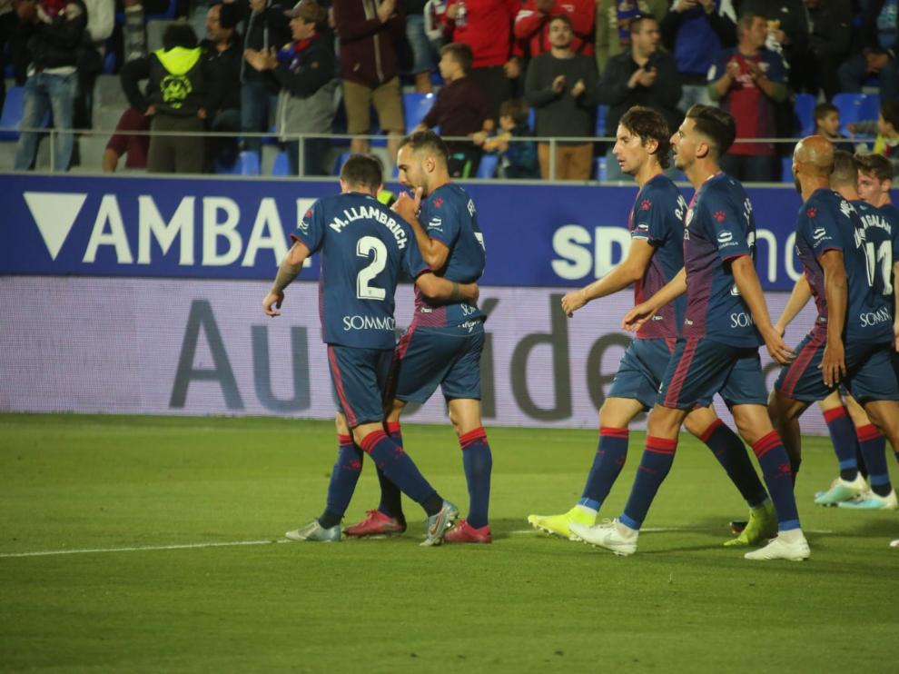 Partido de la SD Huesca contra el Málaga