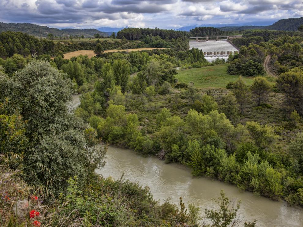 El río Gállego, a su paso por el embalse de Ardisa, uno de los atractivos de la zona.