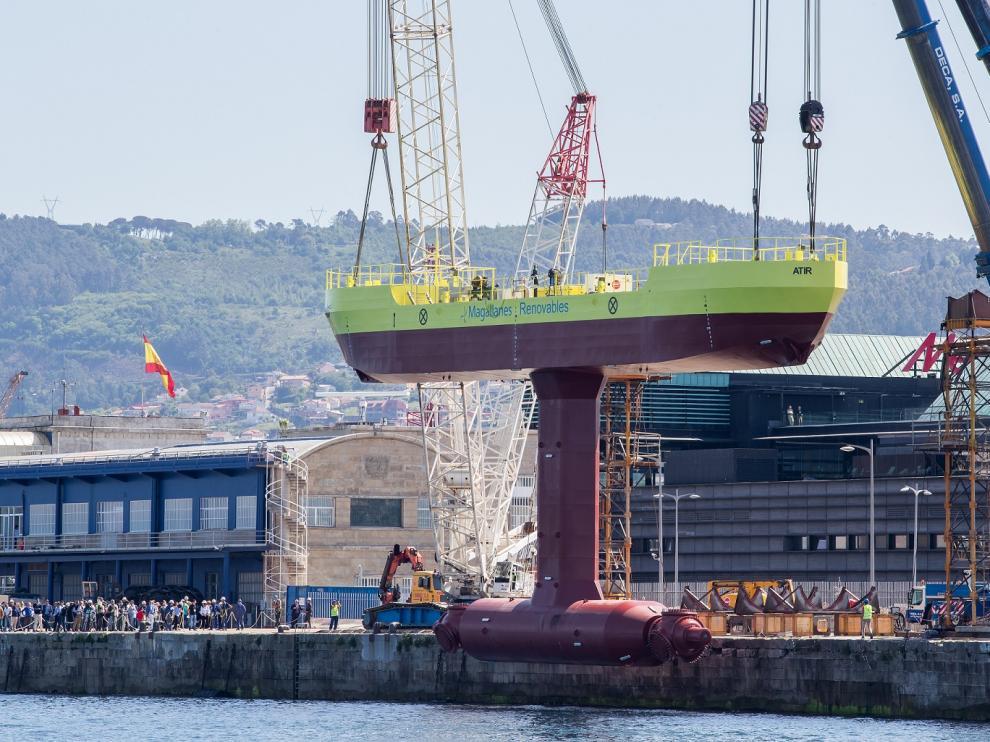 Botadura de la turbina flotante de Magallanes Renovables.