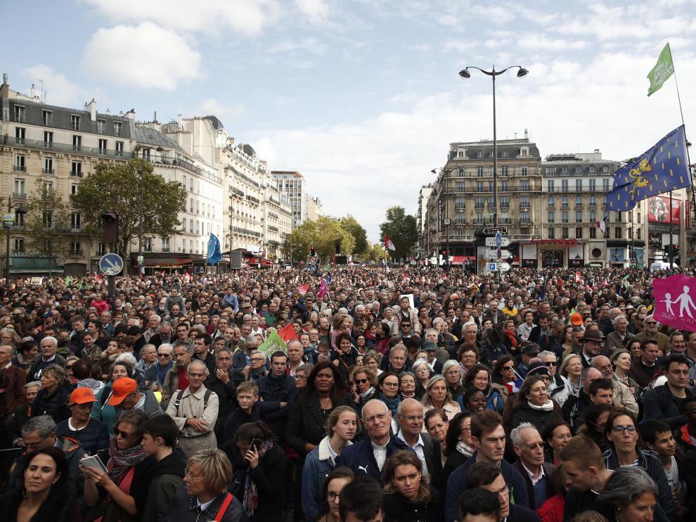 Manifestación en París.