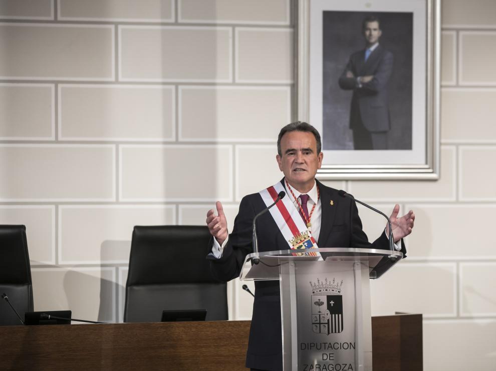 Sánchez Quero, en el pleno de constitución de la DPZ.