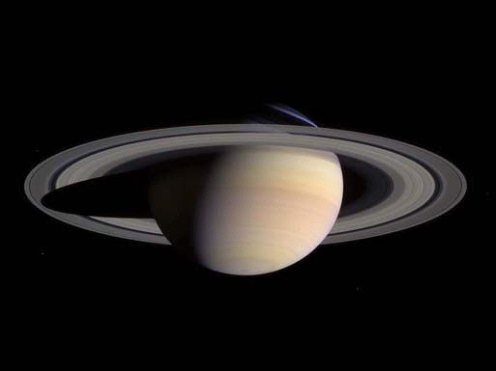 Imagen de Saturno tomada por la sonda Cassini.
