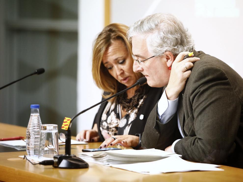 Pérez y Olona, este martes durante el Consejo de Gobierno