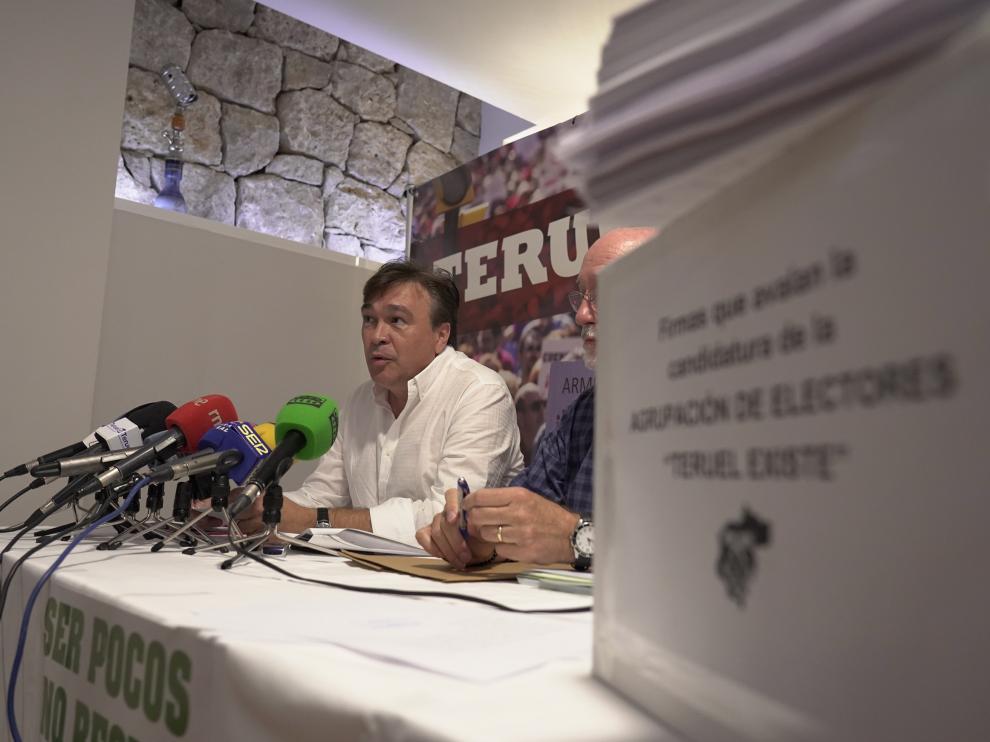 Presentacion de la candidatura de Teruel Existe a las generales.Tomas Guitarte, candidato Foto Antonio Garcia/bykofoto [[[FOTOGRAFOS]]]