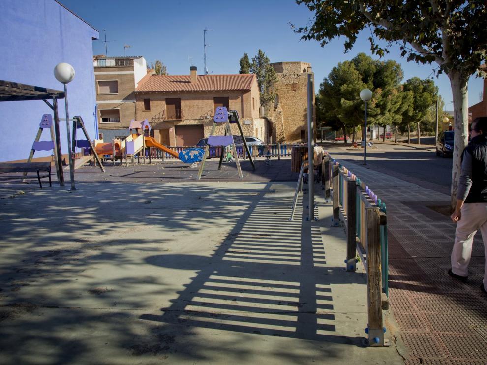 Una de las áreas infantiles que existen en Cariñena, en una imagen de archivo.