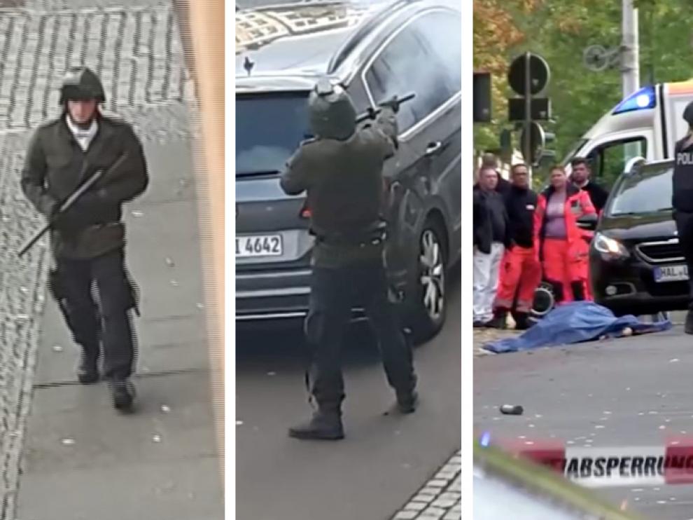 El atacante iba con ropa militar y varias armas