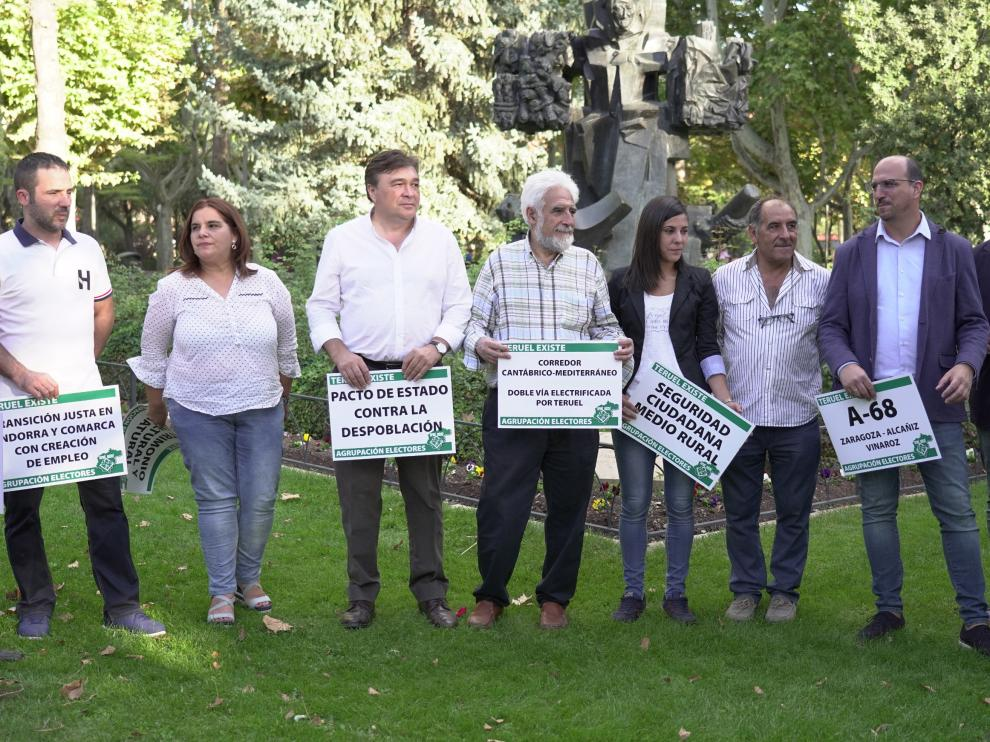 Presentacion de Teruel existe de los candidatos al congreso y al senado para las proximas elecciones generales. Foto Antonio Garcia/Bykofoto. 09/10/19 [[[FOTOGRAFOS]]]