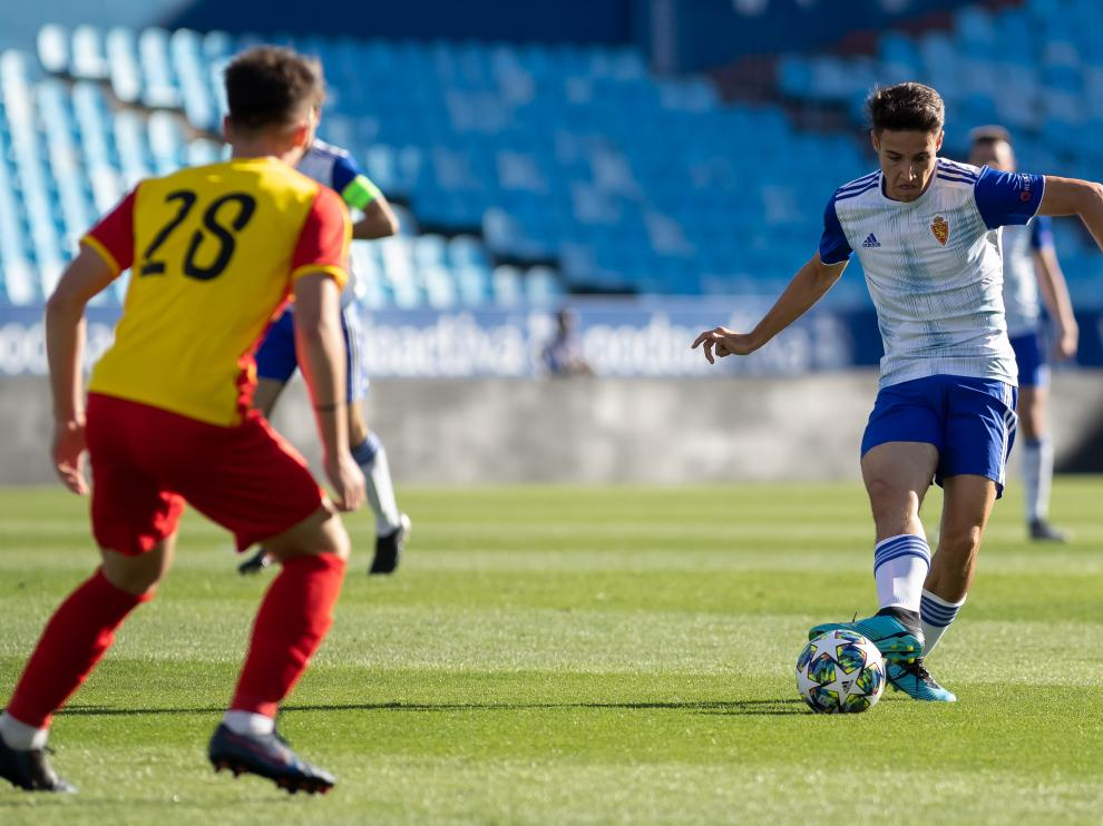 Real Zaragoza-Korona Kielce, de la Youth League, en La Romareda.