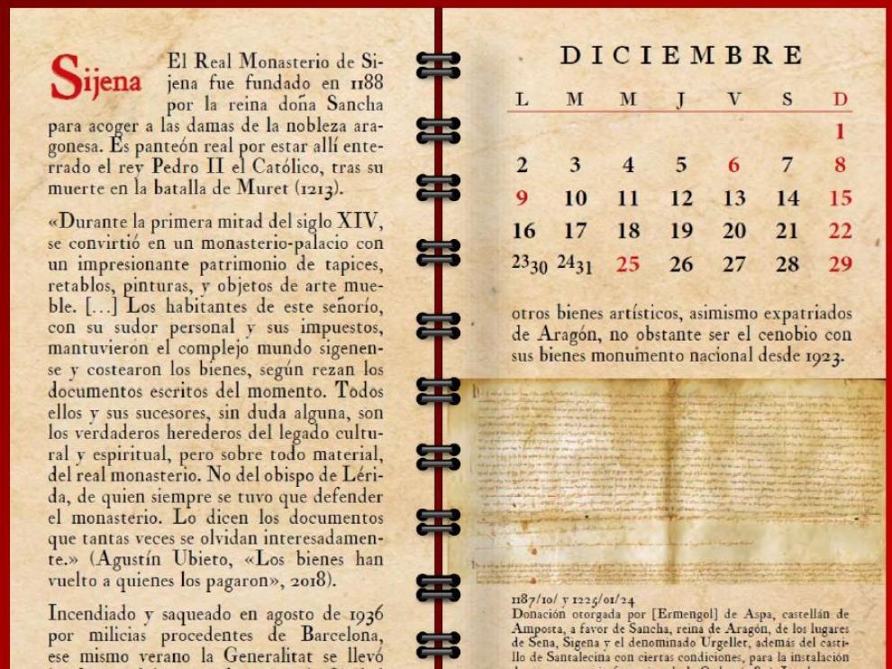 Imagen correspondiente al mes de diciembre del calendario