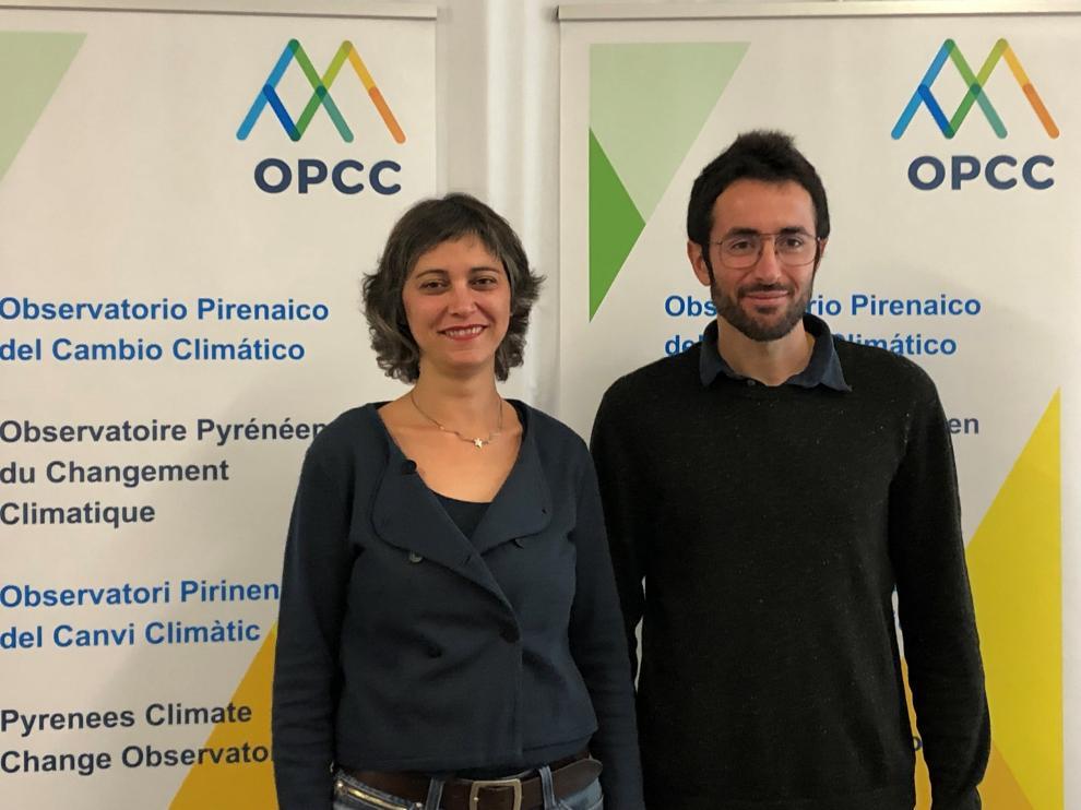 Arauzo, coordinadora del Observatorio y Juan Terrádez, coordinador del proyecto OPCC2.