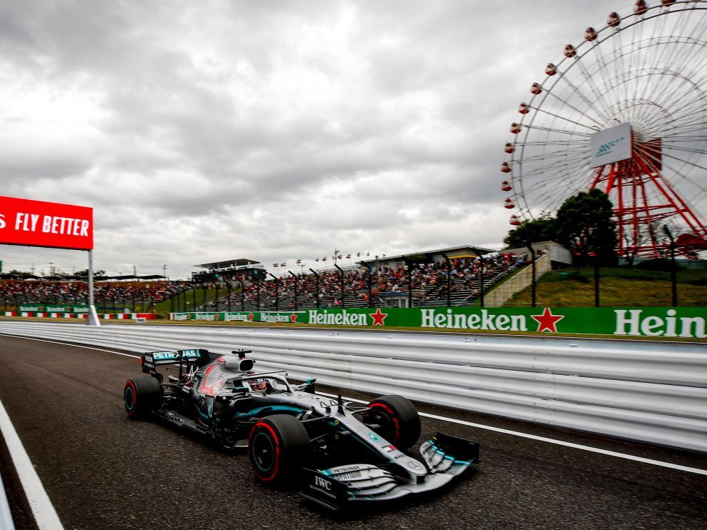 Hamilton en el circuito de Suzuka
