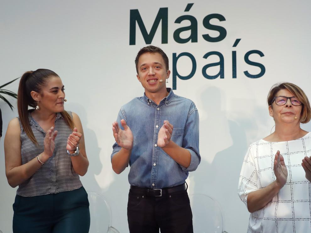 Íñigo Errejón en la presentación de la candidatura de Más País.