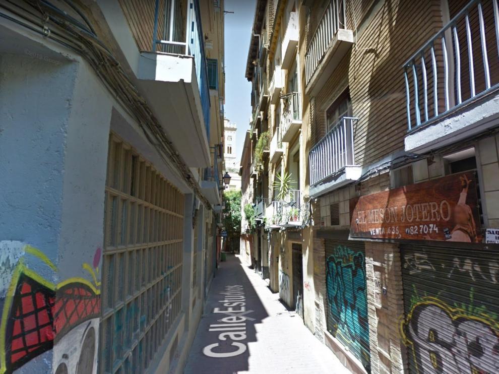 Una imagen de la calle de los Estudios de Zaragoza.