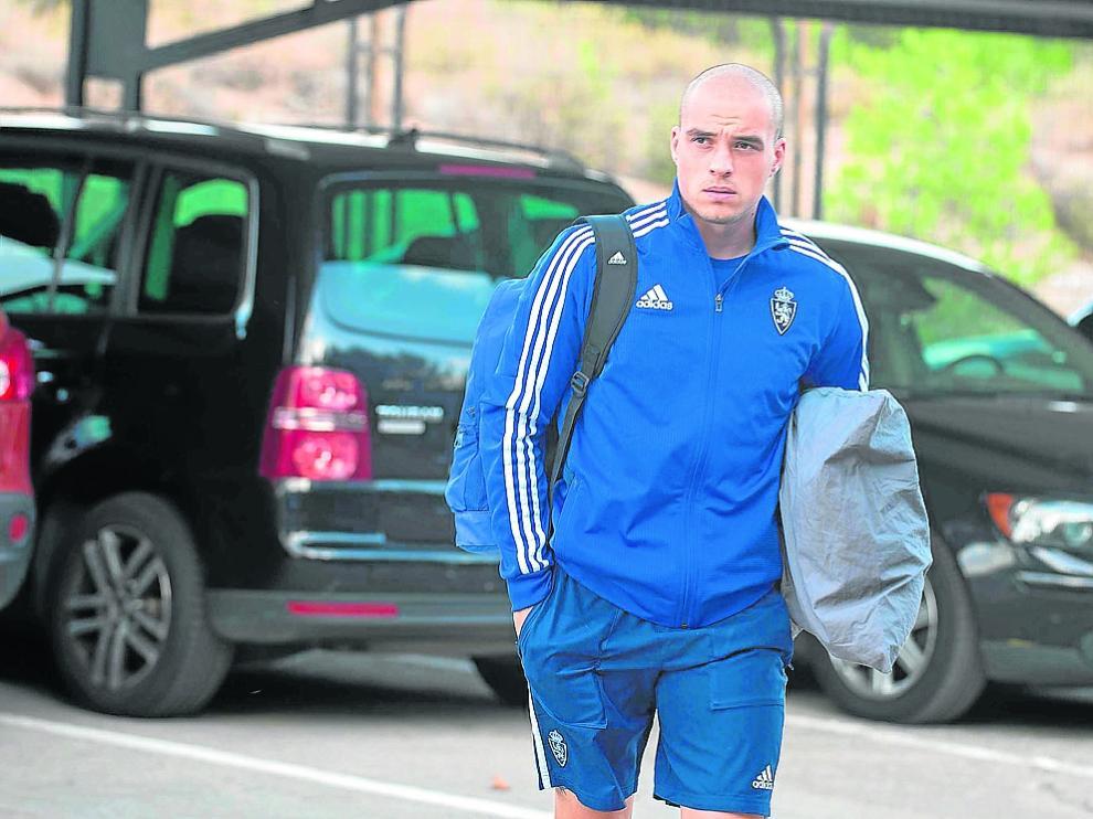 Jorge Pombo, en la Ciudad Deportiva, antes de viajar a Soria ayer por la tarde.