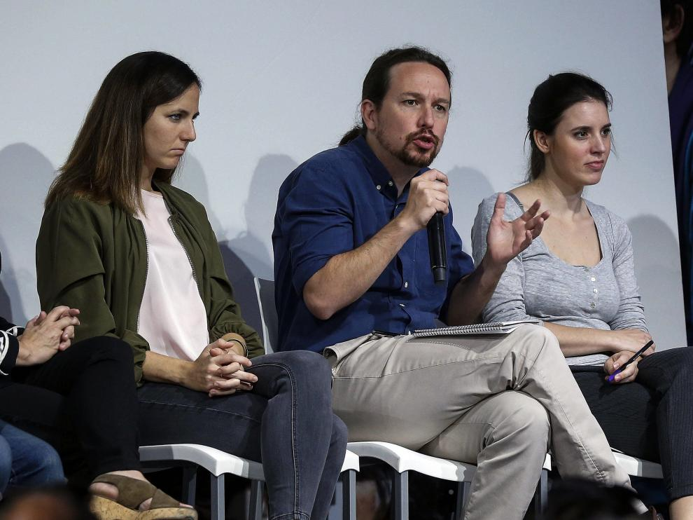 Pablo Iglesias presenta el programa electoral de Unidas Podemos.