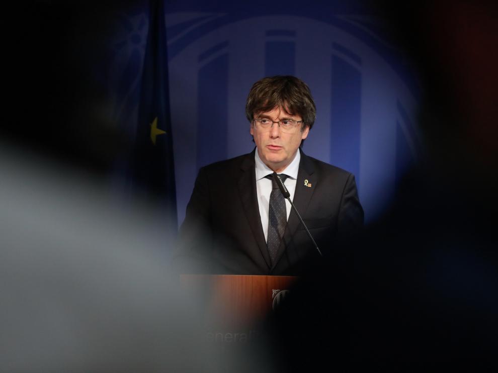 Puigdemont, este lunes en Bruselas