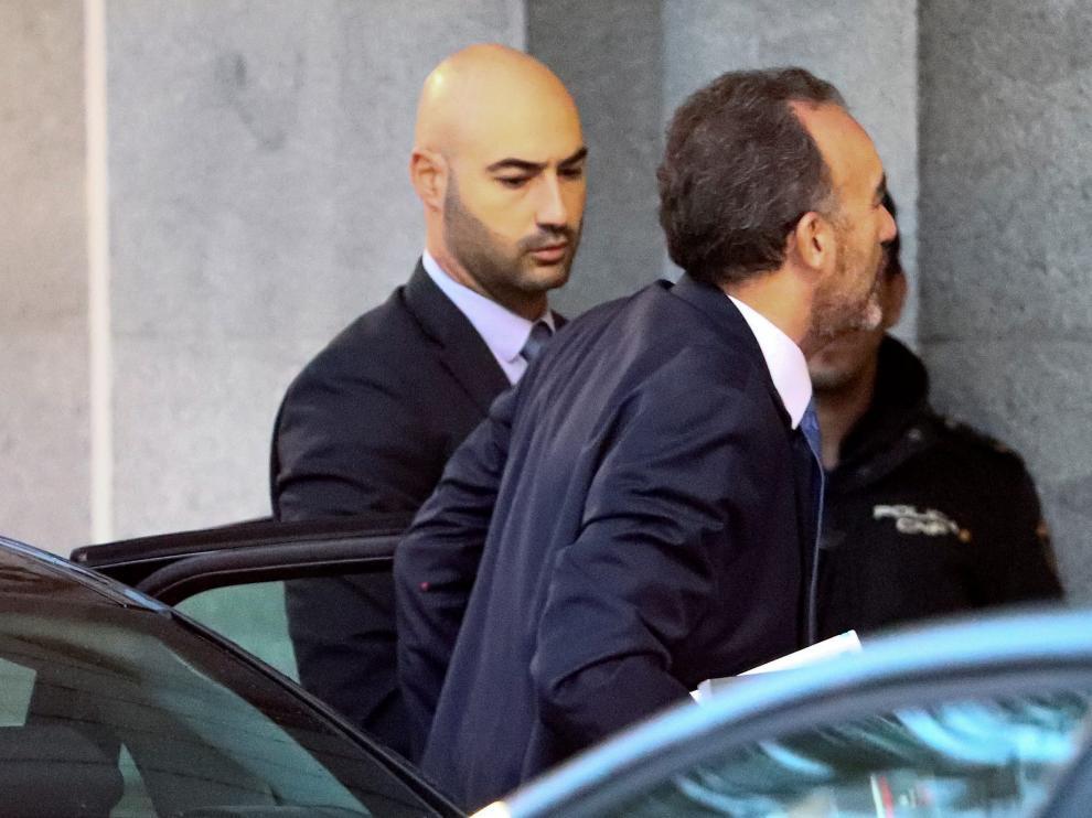 El juez Manuel Marchena a su llegada al Tribunal Supremo antes de conocerse este lunes la sentencia del 'procés'.