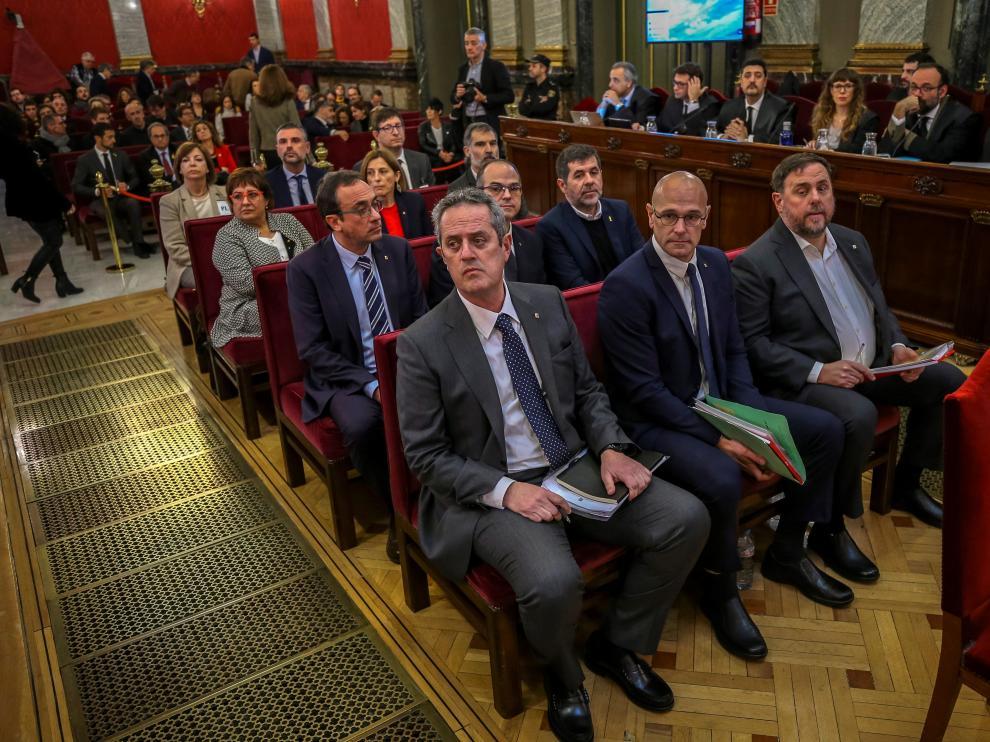 Políticos juzgados por el Supremo en el juicio del 'procés'