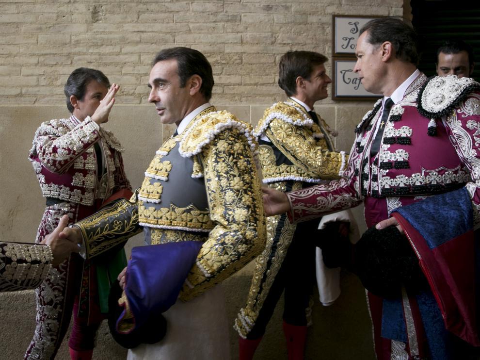 Ponce y De la Viña, antes del paseíllo.