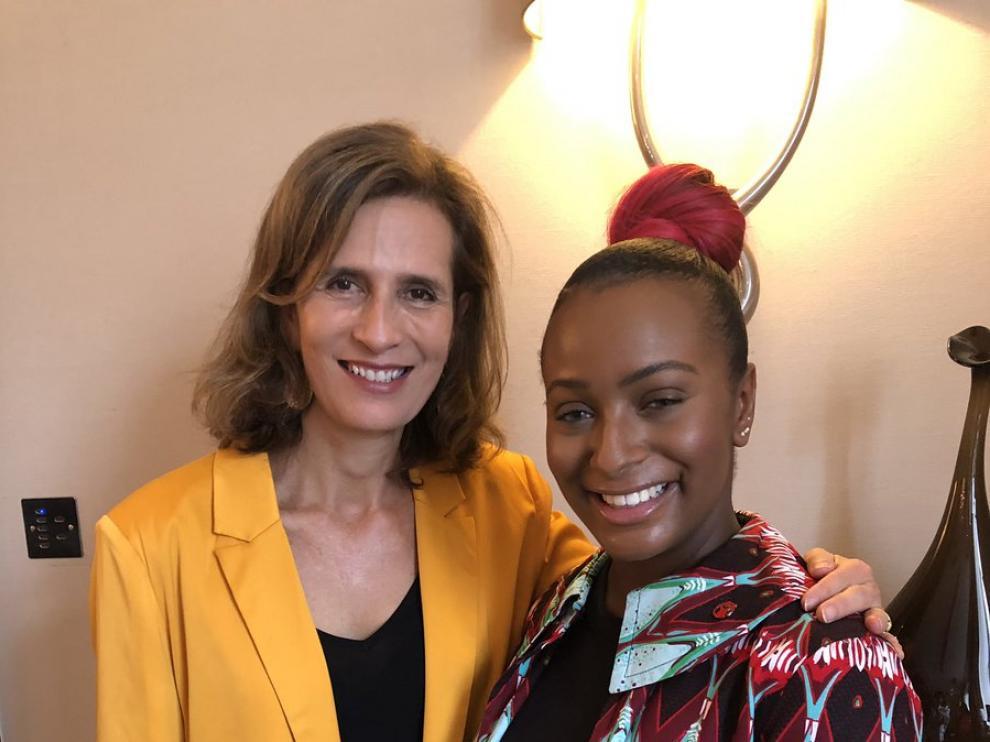 La princesa, con la cantante nigeriana Cuppy Opedola