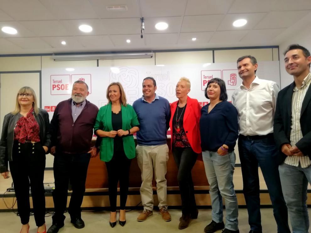 Los candidatos socialistas al 10N con la secretaria general, Mayte Pérez.