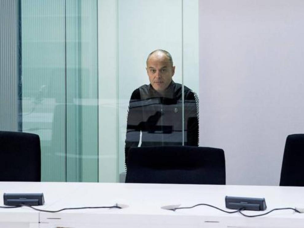 El etarra Mikel Carrera Sarobe, durante el reciente juicio en la Audiencia Nacional
