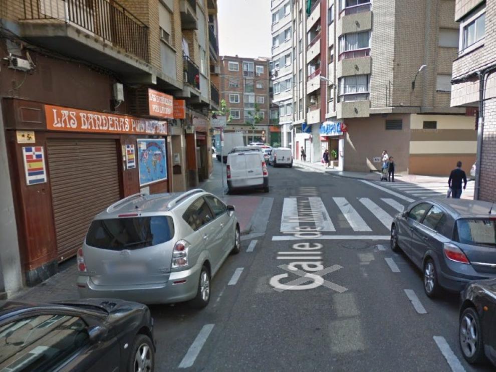 Imagen de la calle de Marcos Zapata de Zaragoza, donde se produjeron los hechos.