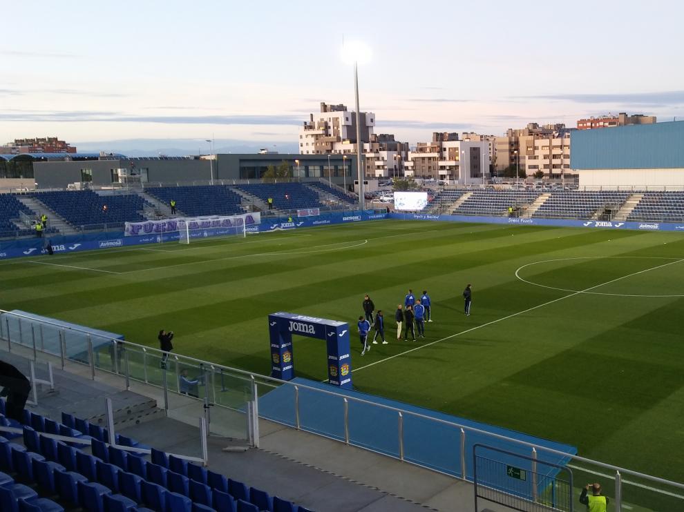 Imagen del Fernando Torres de Fuenlabrada antes del partido del Zaragoza.