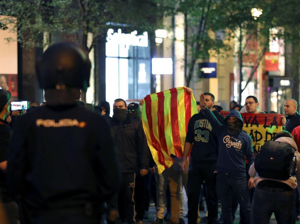Manifestación en Madrid contra la sentencia del procés