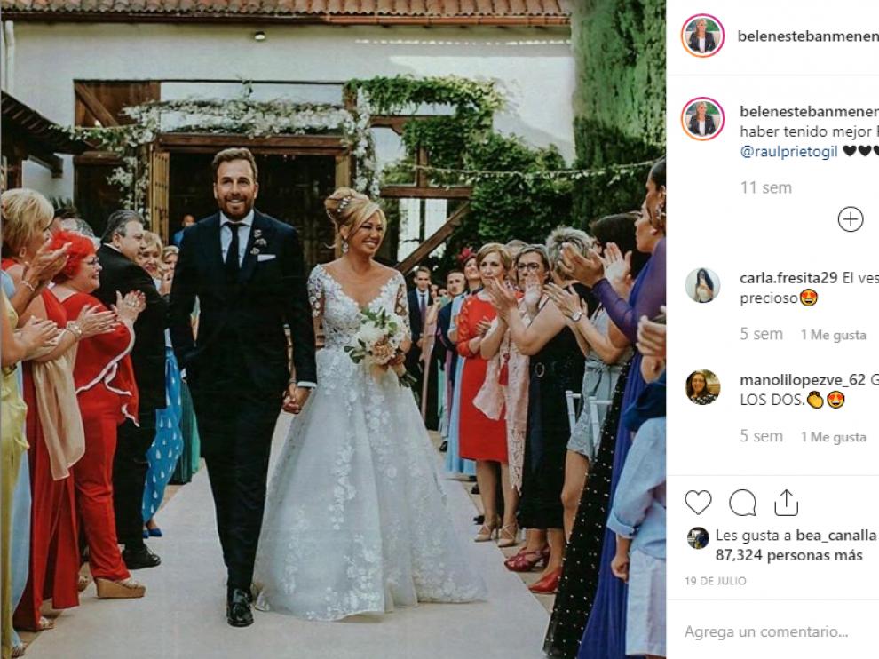 Belén Esteban ha sido una de las famosas que se han casado este año.