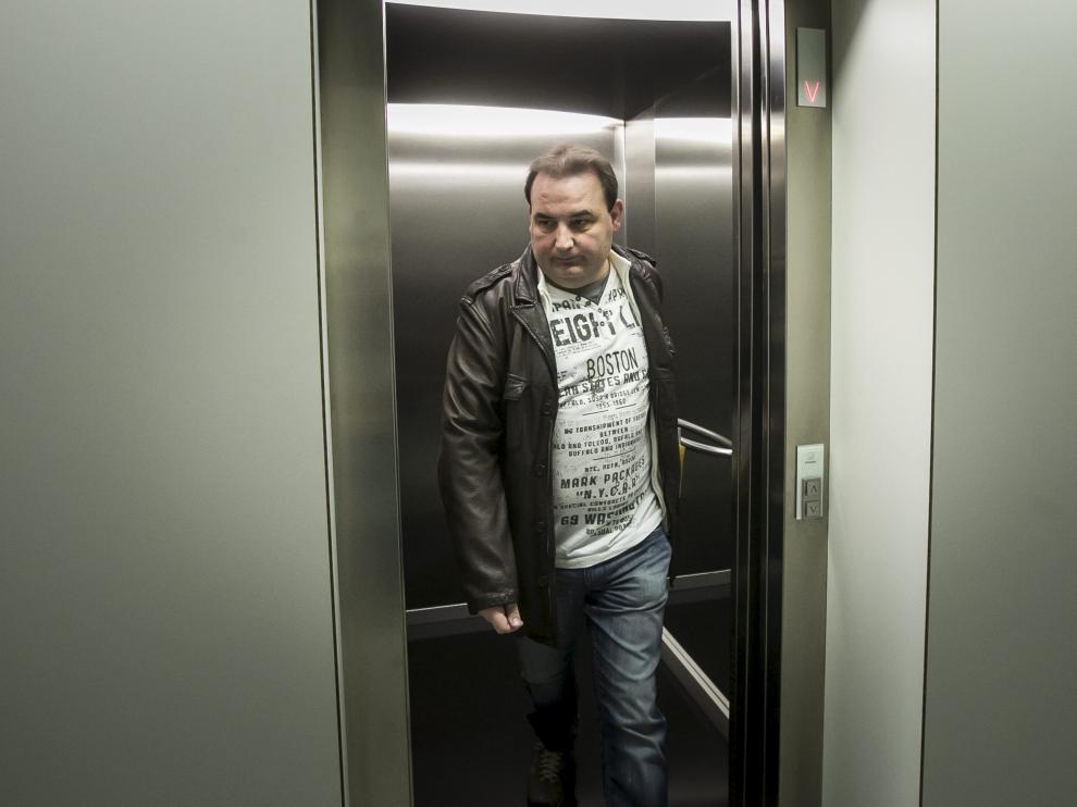 Francho Chabier Mayayo, en una foto de archivo en la Ciudad de la Justicia de Zaragoza.