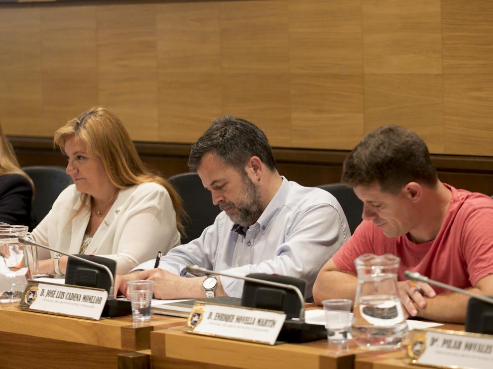 Pleno del Ayuntamiento de Huesca / 28-6-19/ Foto Rafael Gobantes [[[FOTOGRAFOS]]]