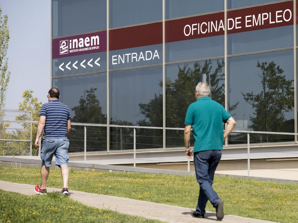 Oficina de empleo en Zaragoza.