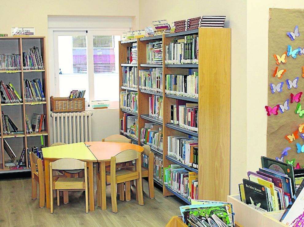 Uno de los espacios de la nueva biblioteca escolar